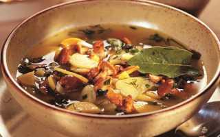 Рецепты постных супов из шампиньонов