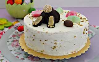Как приготовить бисквитный торт Пасхальный кролик