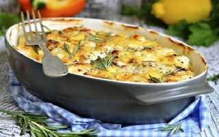 Запеканка картофельная с грибами в духовке рецепт