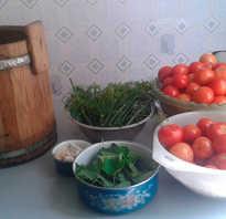 Засолка помидоров в бочке целиком