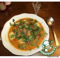 Кавказские супы из свинины