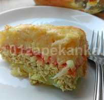 Запеканка из сырой тертой картошки