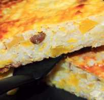 Запеканка из тыквы с рисом и изюмом