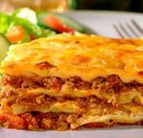 Итальянская кухня лазанья рецепт