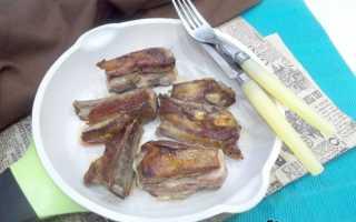 Бараньи ребрышки на сковороде