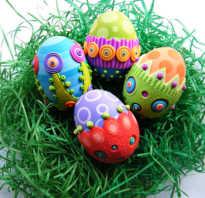 Пасхальные яйца так же можно декорировать
