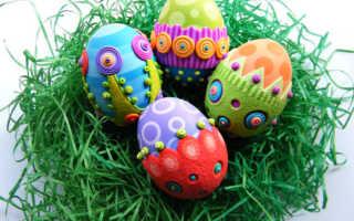 Как украсить яйца на Пасху подручными материалами