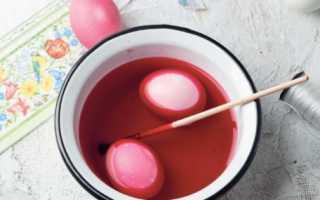 Окрашивание яиц капустой красной на пасху