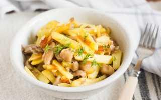 Как правильно приготовить вешенки с картошкой