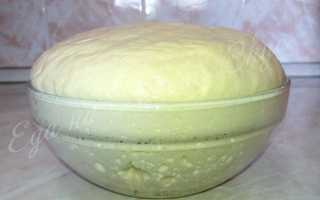 Постное дрожжевое тесто для пирожков