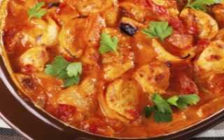 Индейка в томатном соусе на сковороде рецепт
