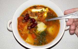Суп из консервированной фасоли в мультиварке
