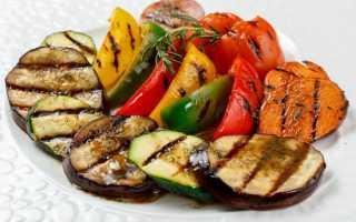 Рецепт овощей гриль на решетке в духовке