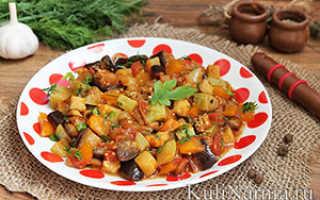 Кабачок баклажан помидор перец рецепт рагу