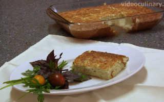 Запеканка из кабачков видео рецепт