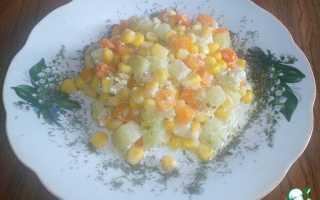 Запеченные овощи с сыром и сливками