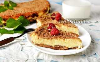 Запеканка творожная с печеньем рецепт в духовке