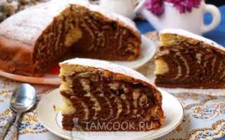 Зебра пирог самый простой рецепт без сметаны