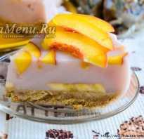 Йогуртовый торт с желатином без выпечки