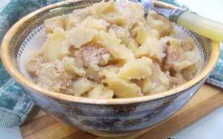 Как потушить картошку с мясом в казане