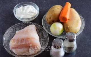 Запеканка с рыбным фаршем и картошкой