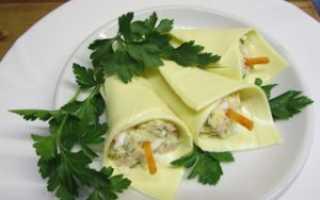 Закуска из плавленного сыра каллы