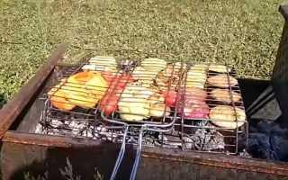 Как пожарить овощи гриль на мангале