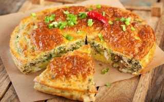 Заливной пирог с сайрой на кефире рецепт