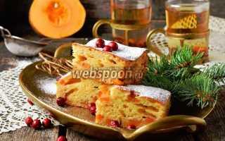 Заливной пирог с тыквой рецепт с фото
