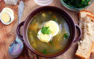 Постные щи щавеля яйцом рецепт
