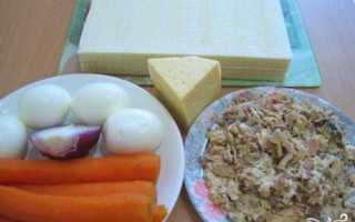 Закусочные торты из вафельных коржей рецепты