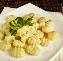 Итальянские ньокки рецепт с фото