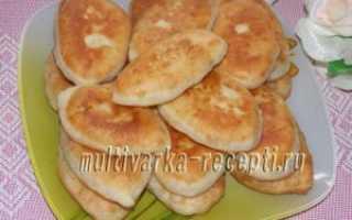 Постные жареные пирожки с квашеной капустой